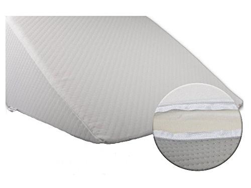 Bella Luna XXL Keilkissen 30x50x60 cm zum ergonomischen Sitzen und Liegen im Bett mit Microfaser Bezug