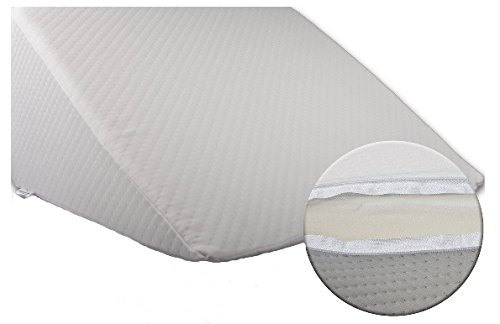bella luna xxl keilkissen 30x50x60 cm zum ergonomischen sitzen und liegen im bett mit microfaser. Black Bedroom Furniture Sets. Home Design Ideas